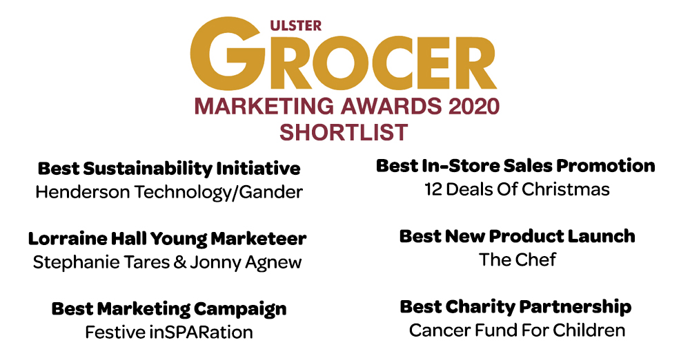 We are delighted to announce that we have been shortlisted for six @UlsterGrocer Marketing Awards 2020.  We look forward to sharing the final results with you. https://t.co/wx1vstxPXo