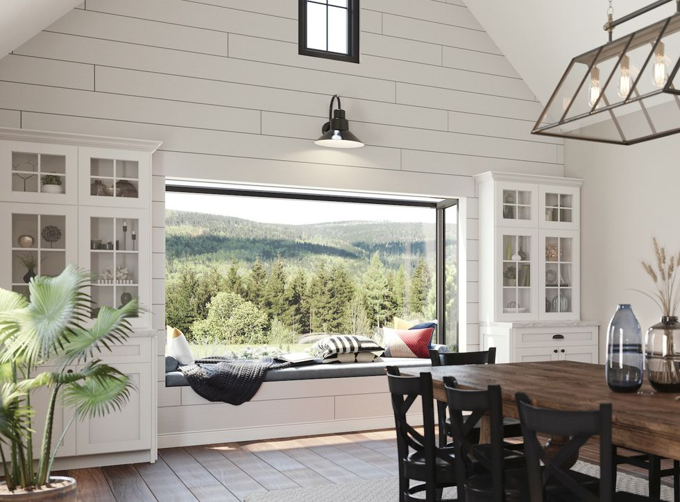Alcove and bay windows featuring a picturesque outdoor view are an inspiration!  #alcovewindows #natureviews #picturesquenook https://t.co/fN940OhT9S