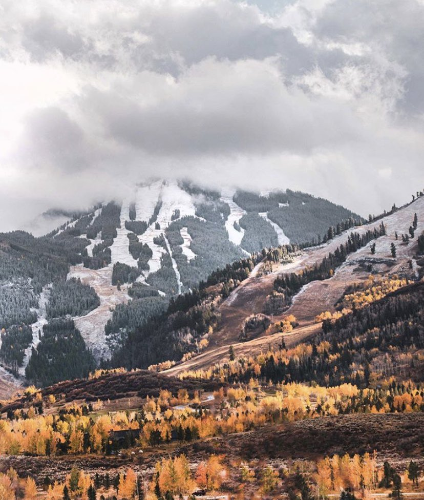 Fall and winter collide. Yesterday's snow has us dreaming of skiing and riding. Mark your calendars, Aspen Mountain and Snowmass are scheduled to open in 45 days! ( 📷 : Rachel Bock ) https://t.co/UsHYBXI50R