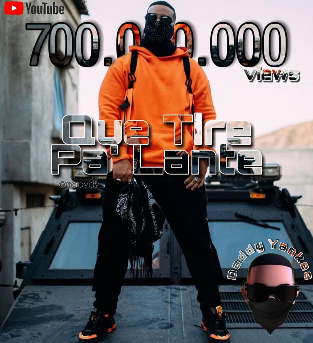 El Hit #QueTirePaLante ya cuenta con 7 Millones de vusualizaciones en #YouTube ! 🔥⚡ Muchas Felicidades Jefe @daddy_yankee 👑❤ Seguimos por más, tirando pa' lante! 💪🏼