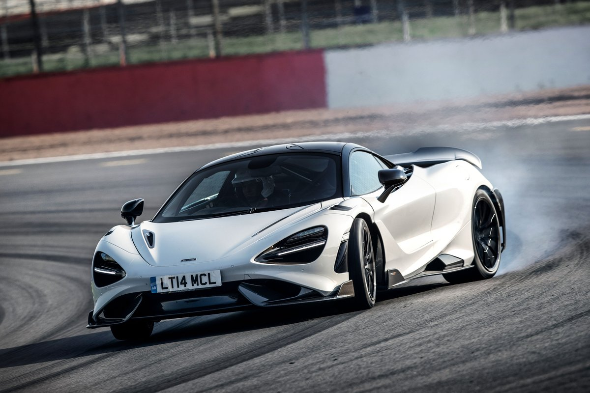 The reviews of the incredible McLaren 765LT are out.   Pictured in stunning Smoked White while out on track at Silverstone, here is a few of our favourite images from the launch.   Want to know more about the 765LT?   Take a look here - https://t.co/3SOA6jkpPS https://t.co/TFdDGXhSbM