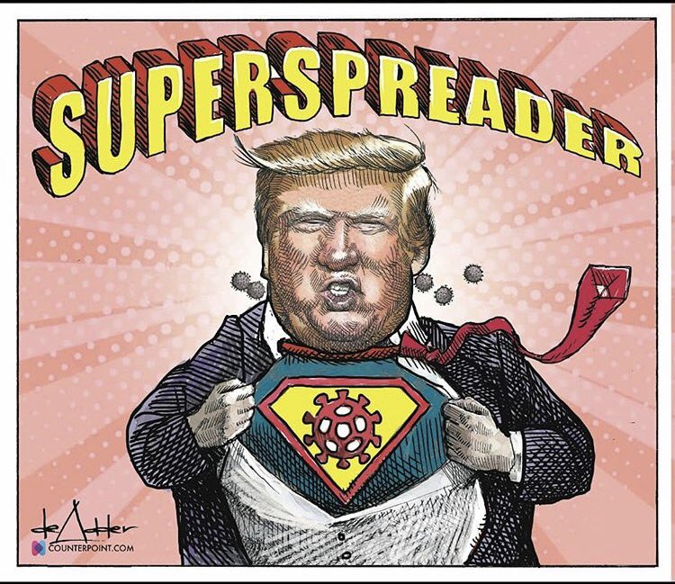 @realDonaldTrump SUPER SPREADER Says Whut???