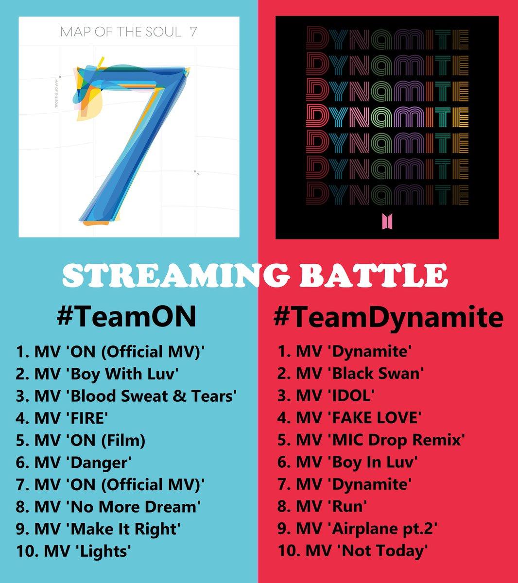 STREAMING BATTLE @BTS_twt Chọn 1 Team và cùng stream theo list dưới đây nào mọi người ơi !!