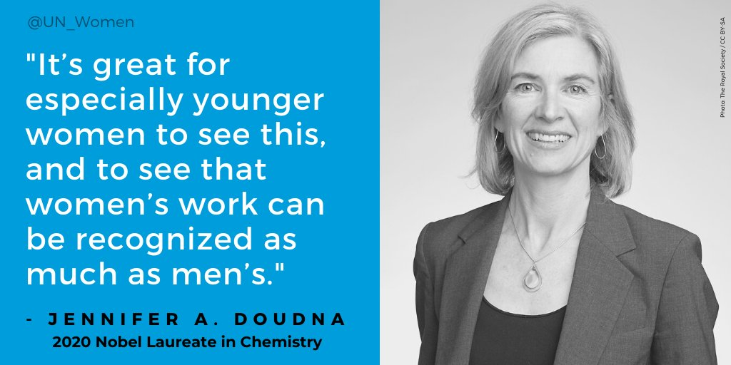 The #NobelPrize in Chemistry has been awarded 112 times to 186 Nobel Laureates.  Only 7 of them are #WomenInScience.  Here's some words of wisdom from Jennifer Doudna, 2020 Chemistry Laureate, along with Emmanuelle Charpentier. https://t.co/GMV4MGFrKq