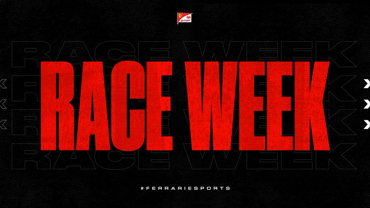 We've waited all year to say this… It's #F1Esports 𝗥𝗔𝗖𝗘 𝗪𝗘𝗘𝗞! 🙌  We can't wait to get back on track, virtually 😁  #FerrariEsports https://t.co/vetyMk72jt