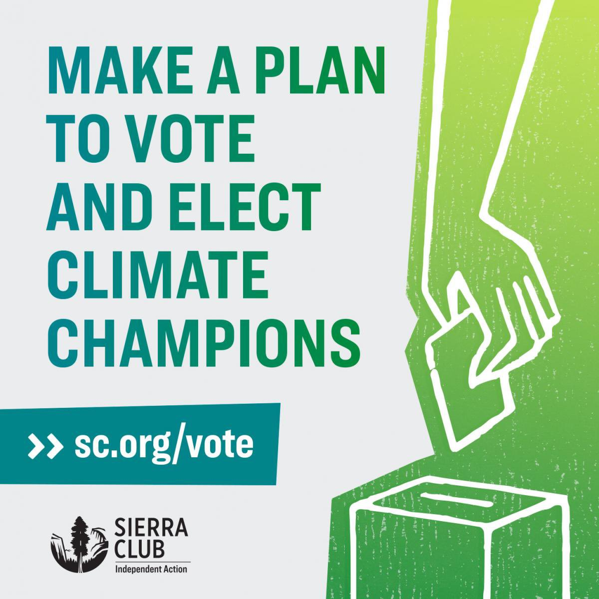 Check out the Sierra Club's voting center here:    #peopleplanetpower #sierraclub #climatechange #voteblue2020 #bechtold4in #vote2020 #GOTV