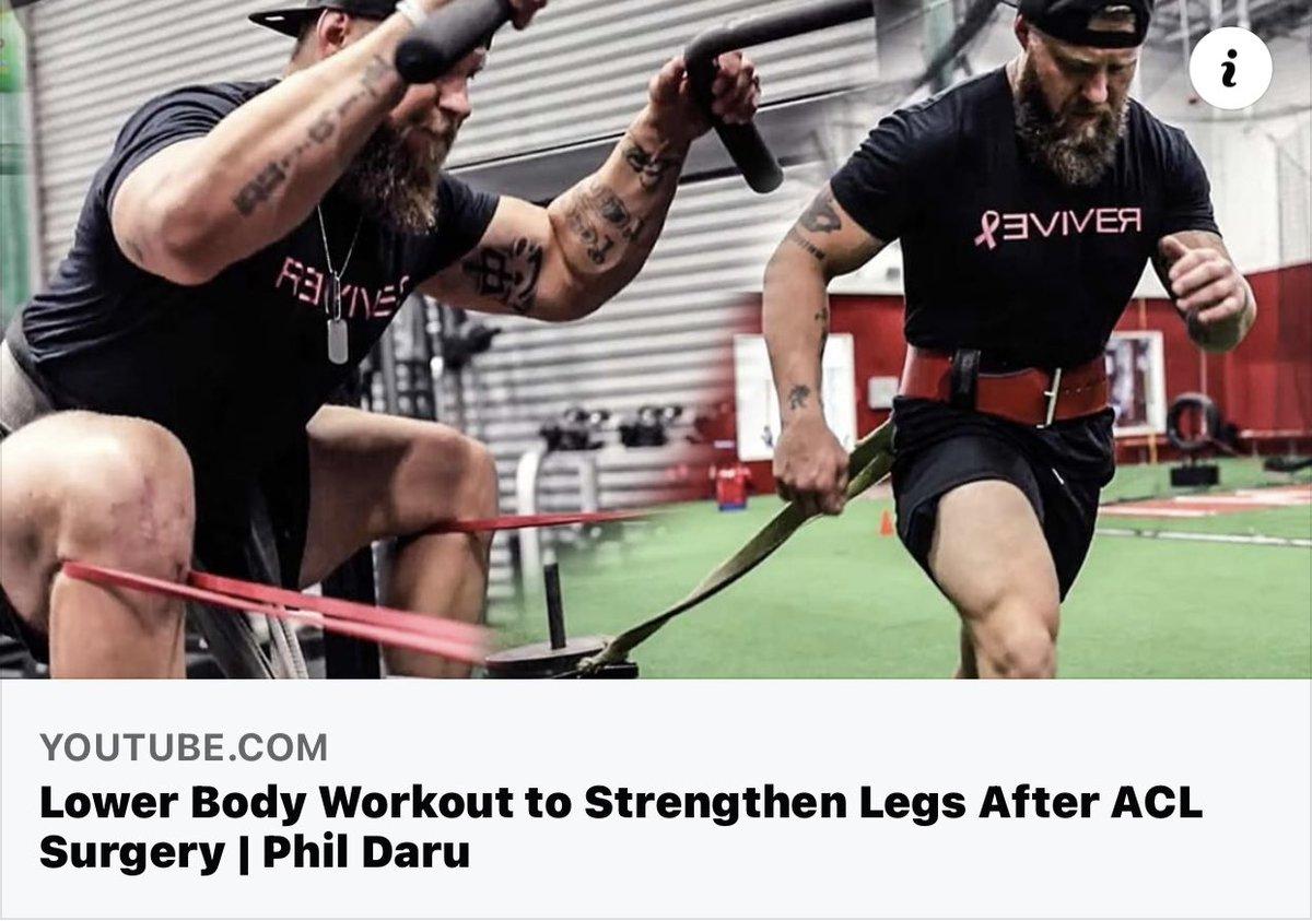 Lower Body Workout to Strengthen Legs After ACL Surgery   Phil Daru https://t.co/26VTyp7wxA via @YouTube https://t.co/lWVN0DgJs0