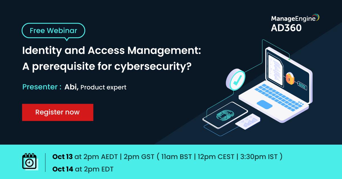 Come salvaguardare la propria sicurezza informatica?? 🛡  @ManageEngine ti aiuta a capire come costruire una solida base #IAMcon #AD360. Potrai così garantire l'accesso ai soli utenti autorizzati 🚫  Registrati al #FreeWebinardi domani!!⬇ https://t.co/3tRctyMuGI  #Security https://t.co/EWxmOHLChw