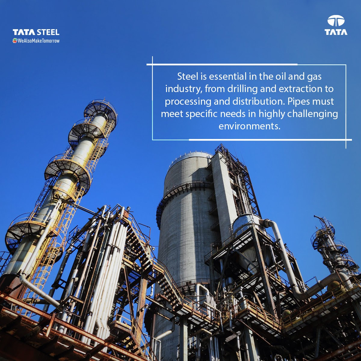 Tata Pipes, has played a crucial role in modernising our country.  With a great emphasis on the quality, all the tubes manufactured undergo various destructive & non-destructive quality assurance tests, to ensure product excellence.   #TataSteel #WeAlsoMakeTomorrow #SteelFacts https://t.co/mEZ3Mz7sl4