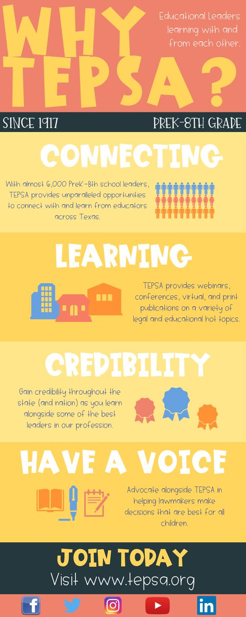 Why should you join TEPSA? We're glad you asked! Join/renew today: tepsa.org/membership/joi… #WeLeadTX #TXed