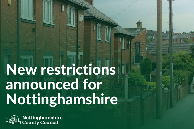 """📣New """"high"""" alert level announced by Government for Notts This means: ❌No mixing with households outside your support bubble in private homes, hospitality, retail or leisure venues 6️⃣Rule of 6 applies outdoors Read the update ⬇️ orlo.uk/High_alert_for… #StaySafeNotts"""