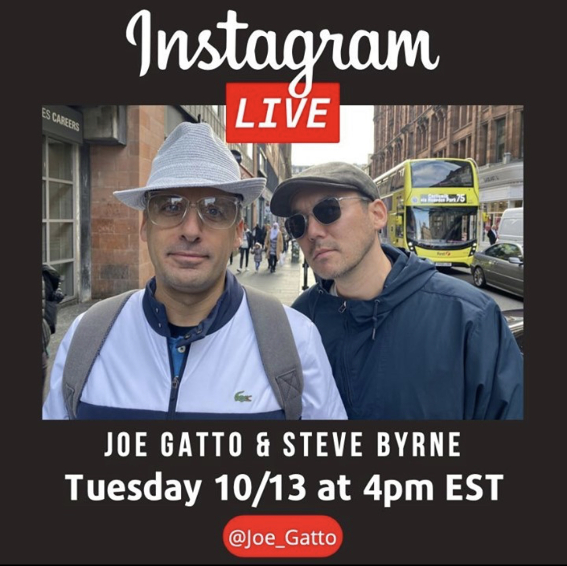 Tomorrow's the day. Come hang with me and my friend @stevebyrnelive on my Instagram live. See you at 4pm EST! https://t.co/Jm0Iq8taTP