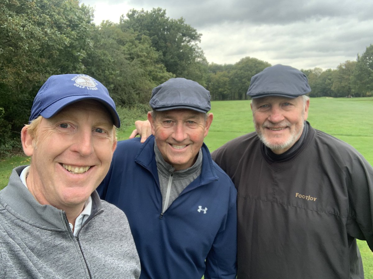 A very nice day playing golf and reminiscing about classic English cricket with Graham Gooch and John Embury at @chelmsfordgc. @Tees_Law and @EssexCricket working together.