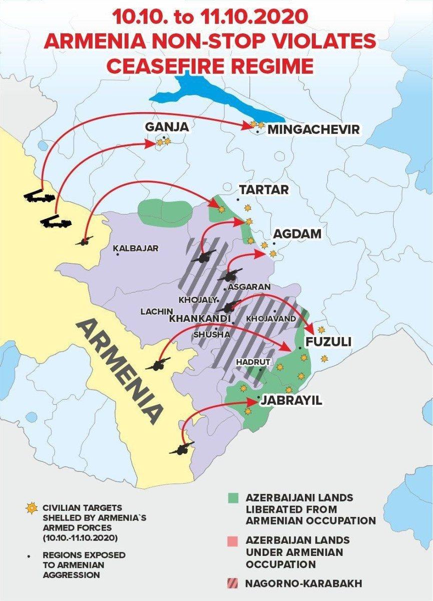Nagorno Karabakh Frontline Map