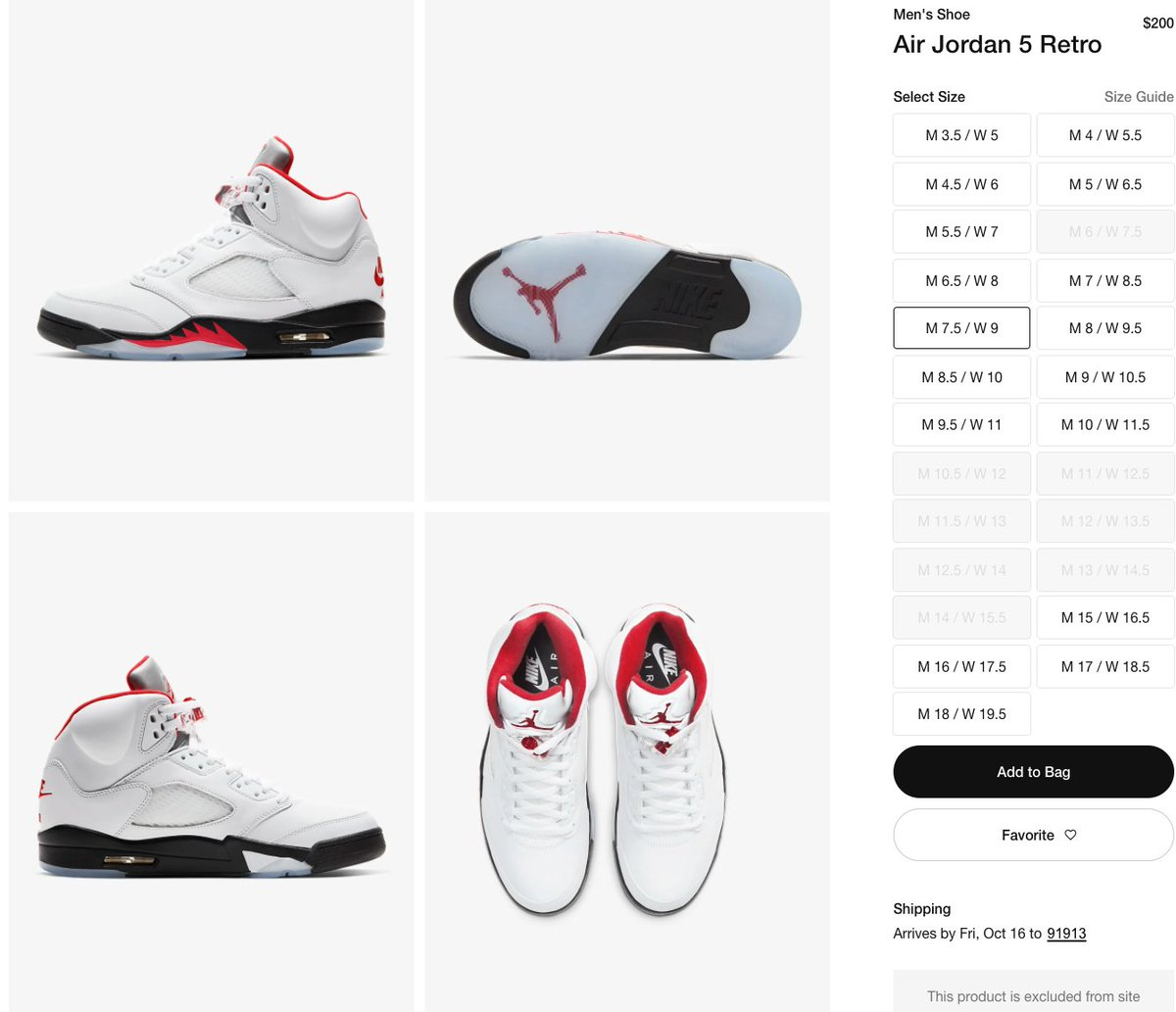 Solelinks On Twitter Ad Restock Air Jordan 5 Retro Fire Red Https T Co Iutumfyibm Https T Co Iutumfyibm Also for twitter turn off retweets because eventually it becomes really spammy. ad restock air jordan 5 retro fire