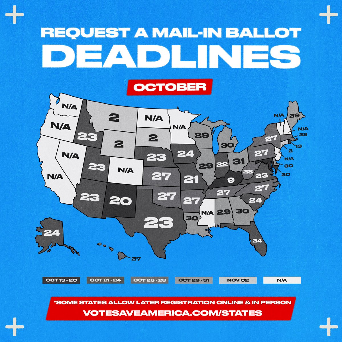 With COVID-19, voting safely is a priority — and one of the safest options on Election Day is to vote by mail. In some states, you will only be sent a mail-in ballot if you request one. Request yours at !