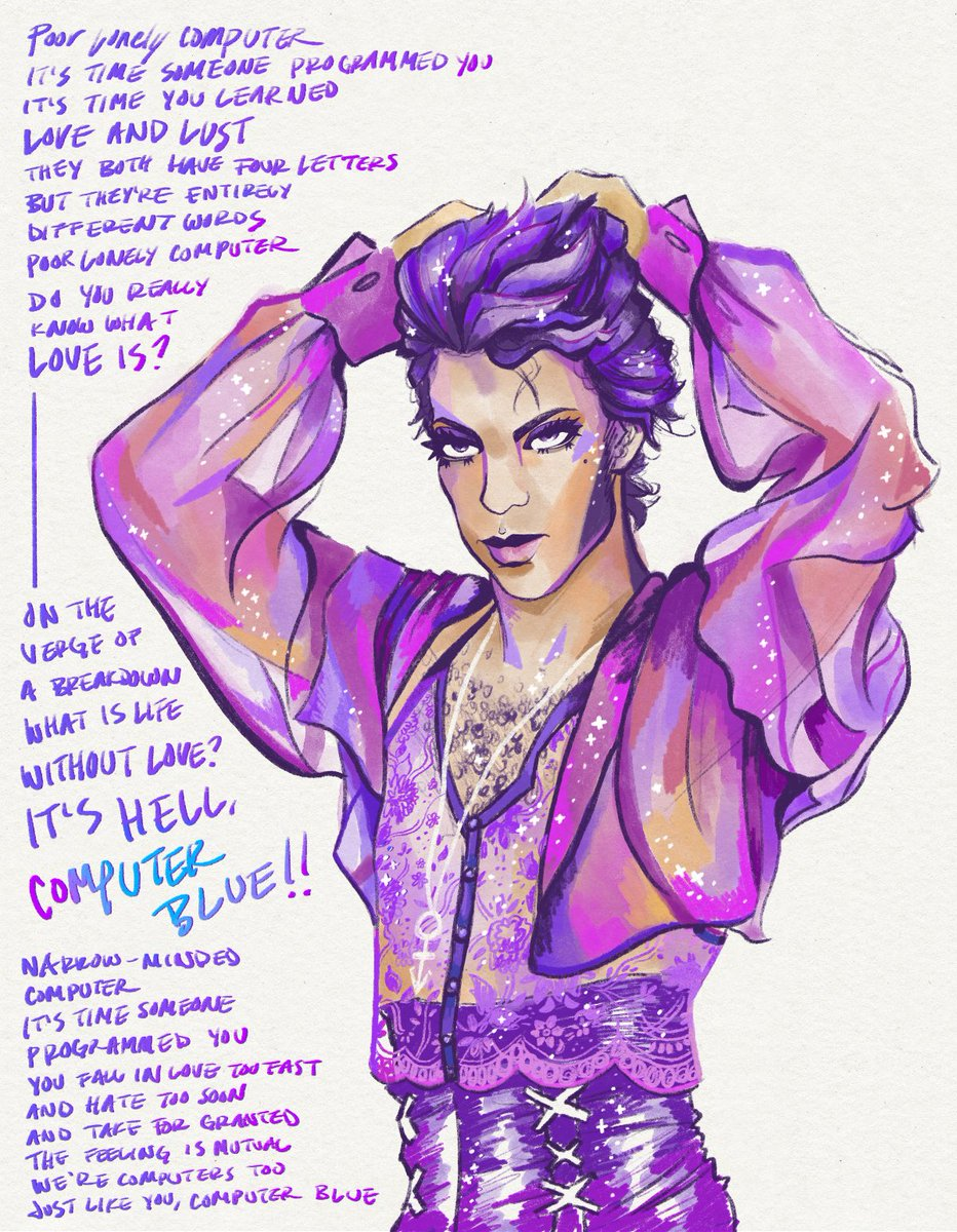 Prince sketch(?)(what counts as a sketch anyway??)💜⚡️ Words from Prince's Computer Blue / Hallway Speech version #Prince #MusicDesign https://t.co/9J7EAT07gA