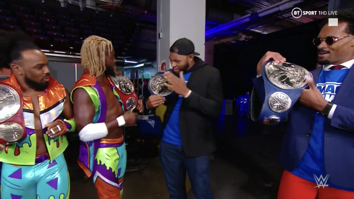 The Street Profits And The New Day Switch Tag Team Titles On Tonight's RAW
