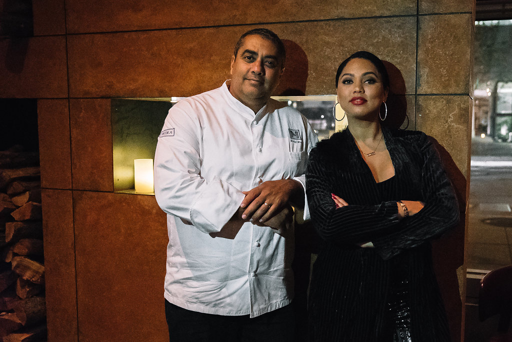 When @ChefMichaelMina and @ayeshacurry team up, you know it's gonna be good. 🔥   Get a little saucy at International Smoke: