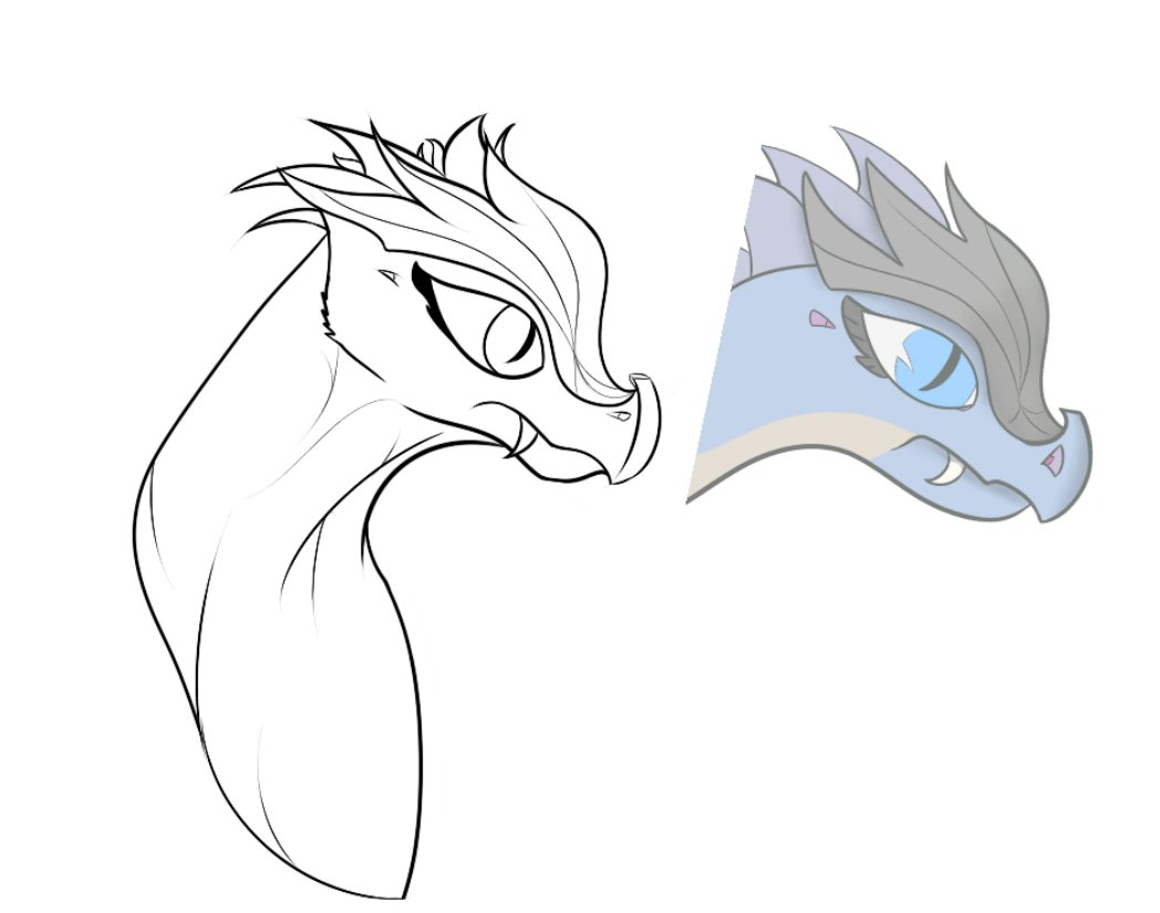 Wip. an old dragon oc i've been meaning to draw again.