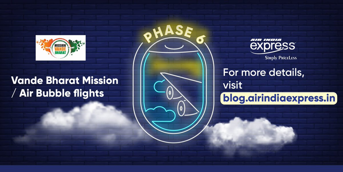 #FlyWithIX: The flight schedule of  phase 6/ October 2020 schedule of  #VandeBharathMission/Air Bubble flights are available in this link:  https://t.co/YfcjitNzhA https://t.co/qgzxxYtb7d