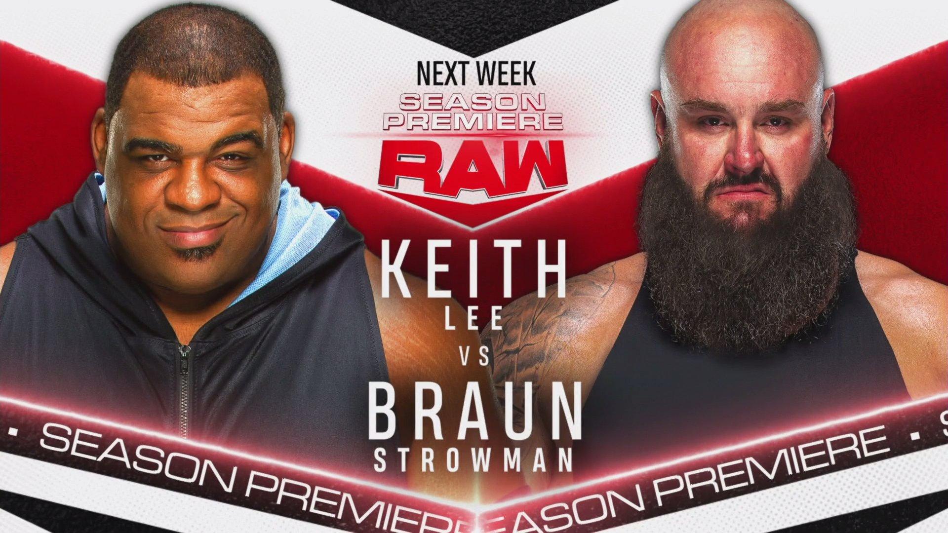 WWE Raw Season Premiere: Title Match, Strowman vs Lee & More Announced 2