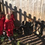 Oaks class have made a splendid 'bug hotel' in the mud kitchen area. They collected leaves and twigs to place in between large logs and can't wait to see all the different bugs visiting the hotel. #copthorneprep #bughotel #nursery