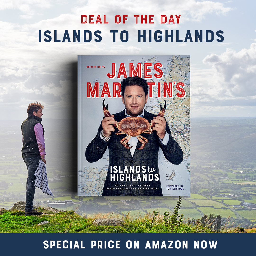It's #PrimeDay over on Amazon! Don't miss these fantastic @jamesmartinchef special offers! First up, his latest book #islandstohighlands at 50% off!    https://t.co/TSHKalHFFz #jamesmartin https://t.co/AOgWLHBjws