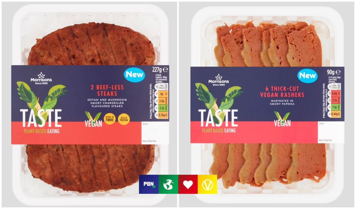 Morrisons has launched vegan steak and rashers - would you try them? buff.ly/3d9b7BK #Vegan #veganfood
