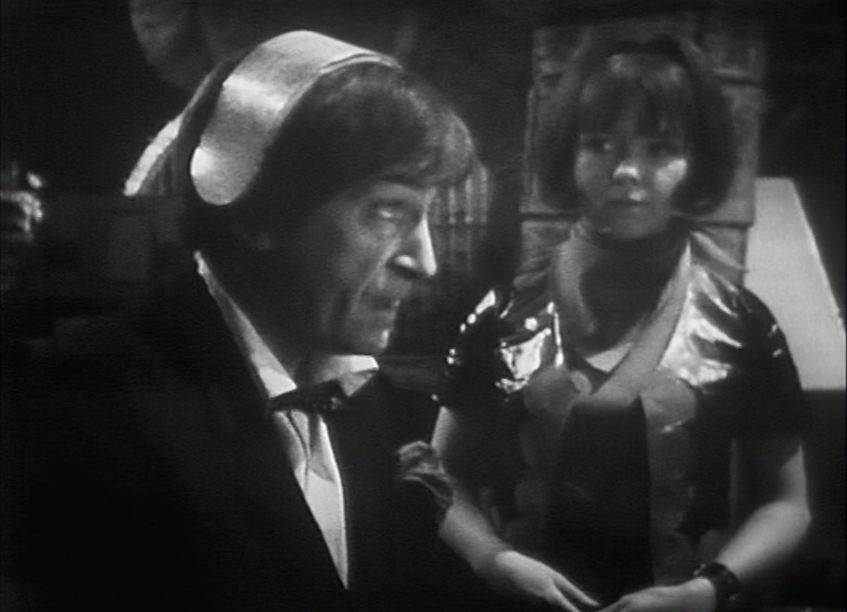 ZOE: Now, press the button. Press the button!  DOCTOR: All right, there's no need to shout! Now go away and don't fuss me. No, come back. What's this? It's all right, I know.   Don't think I've laughed this much at Who since that Monoid gave its plan away to Dodo.  #ThePilgrimage