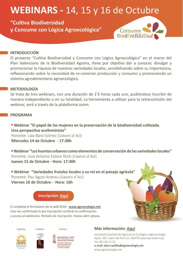 """📆 Jueves 15 octubre, 17:30h 👉 #Webinar """"Los #huertos urbanos como elementos de conservación de las #VariedadesLocales"""" Con @Llavorsdaci  ℹ️Inscripciones: https://t.co/5GbNMs76MQ https://t.co/KmFmEOptT6"""