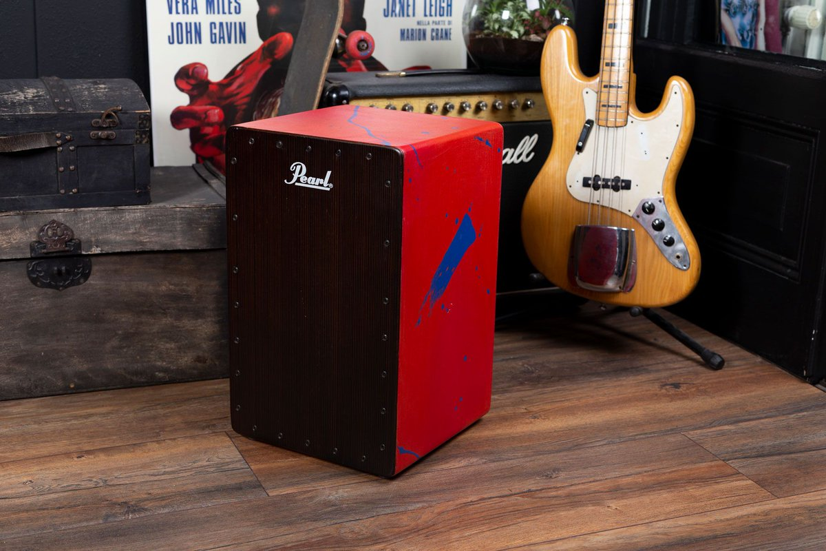 For those who wants to stands out, here is Pearl's new  Primero Abstract Red Cajon for you. Its unique finish is an abstract red print on a cloth sarong that is applied to the body of the cajon and is accentuated by the ebony front.  https://t.co/955Y9DM52i https://t.co/9oAcSBIIaZ