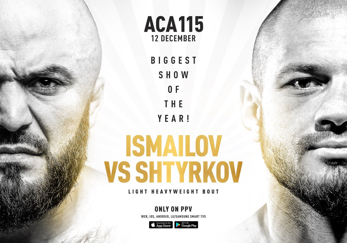 """""""Bald Predator"""" vs. """"Ural Hulk"""" - the biggest fight in Russian MMA this year!  Magomed Ismailov  (16-2) will meet another big name in Russian MMA - Ivan Shtyrkov (17-1). https://t.co/VpuKUWIkVn"""