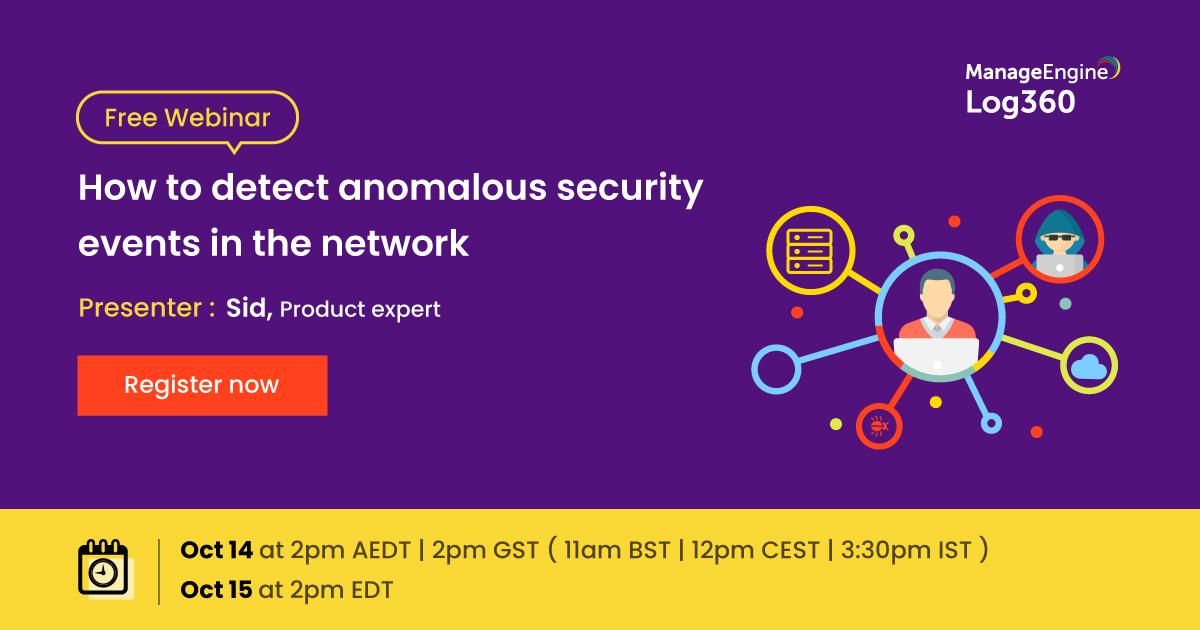 Come monitorare gli eventi anomali nella tua rete?🔭  Te lo spiega @ManageEngine con il suo #FreeWebinar di domani. Scoprirai come monitorare la tua rete per rilevare eventuali anomalie con soluzioni #SIEM💠  ISCRIVITI: https://t.co/8PbRlVgNLz  #Security#Log360 https://t.co/2w4G6sppac