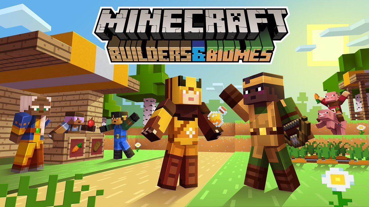 In a mere two days, the Builders & Biomes board game gets its first-ever expansion: Farmer's Market! To celebrate, get yourself some proper agrarian aesthetics with these free in-game skins for both Java and Bedrock: ↣ redsto.ne/bbfarmersmarket ↢