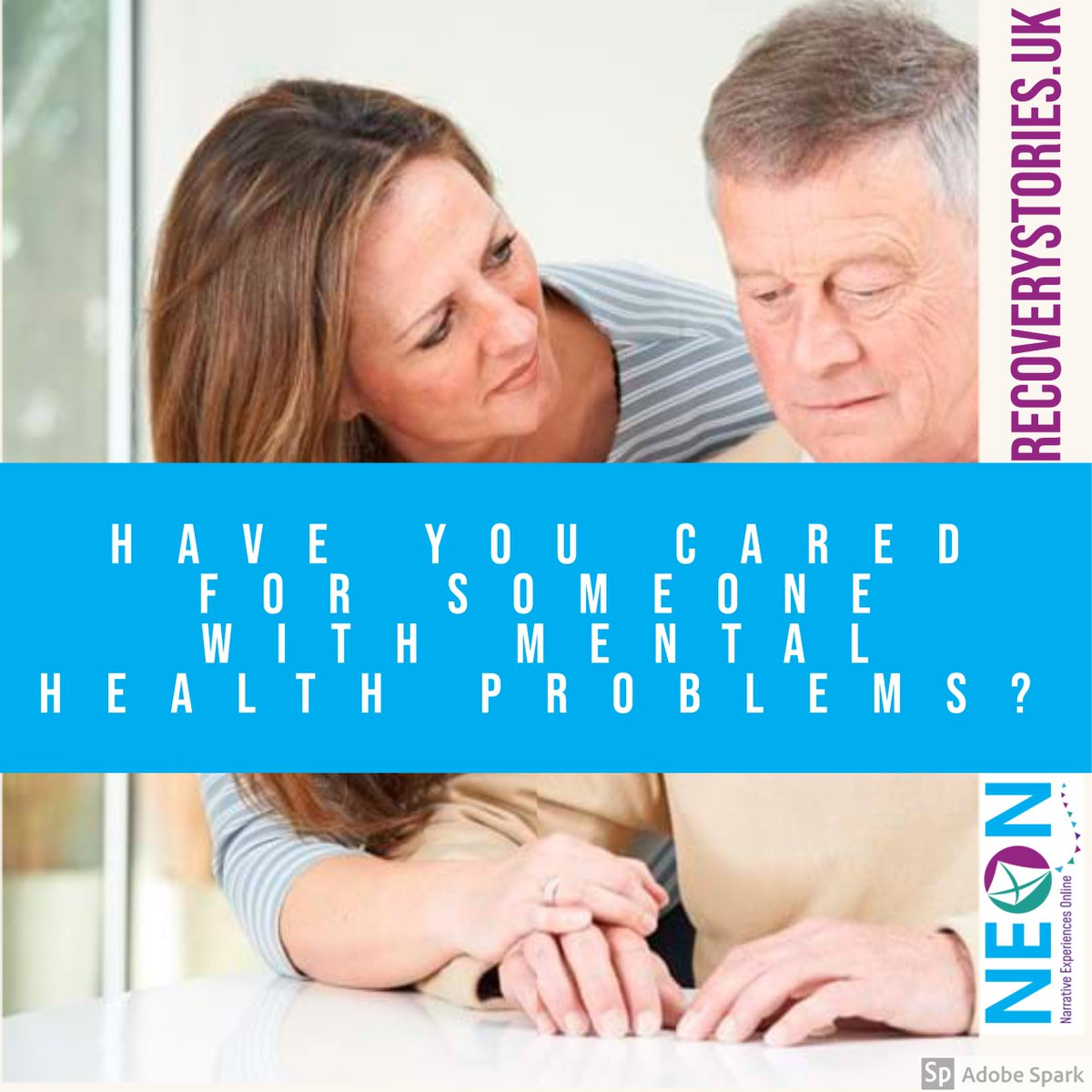We are now investigating whether Carers of people living with ANY mental health problem benefit from viewing, hearing or reading real-life mental health recovery stories in the online NEON-C Trial.   To sign up or for more information, head to: https://t.co/jkPnSHCeTY https://t.co/yDRfTARdB2