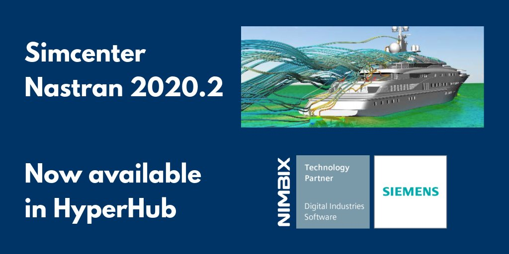 Simcenter Nastran 2020.2 from @Siemens is now available in #HyperHub on the @Nimbix #Cloud  and in your own data center with #JARVICEXE.  Level up with improvements in #CAD integration, #Mesh, #CAE integration and more. https://t.co/01NbDHrBQJ https://t.co/boKIQgWw8F