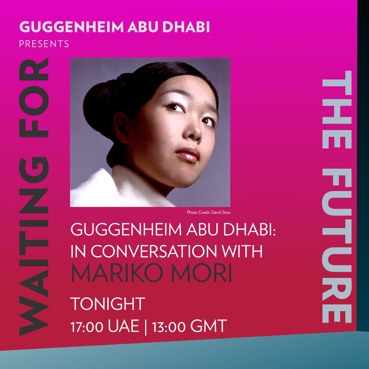 #CulturAllMeet Tonight, Guggenheim Abu Dhabi engages Mariko Mori in a conversation about 'Esoteric Cosmos' (1996–98) followed by 'Miko No Inori' (1996) screening.  Watch it at 5:00PM UAE (1:00PM GMT) – https://t.co/yY0U0QnKSn  #CulturAll https://t.co/uvCj3UoPSO