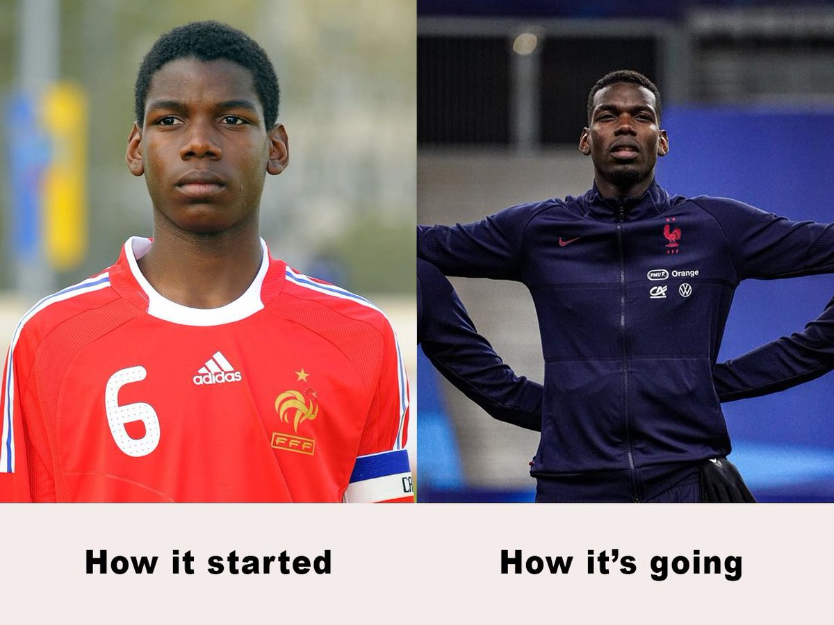How it started how it's going, with @equipedefrance