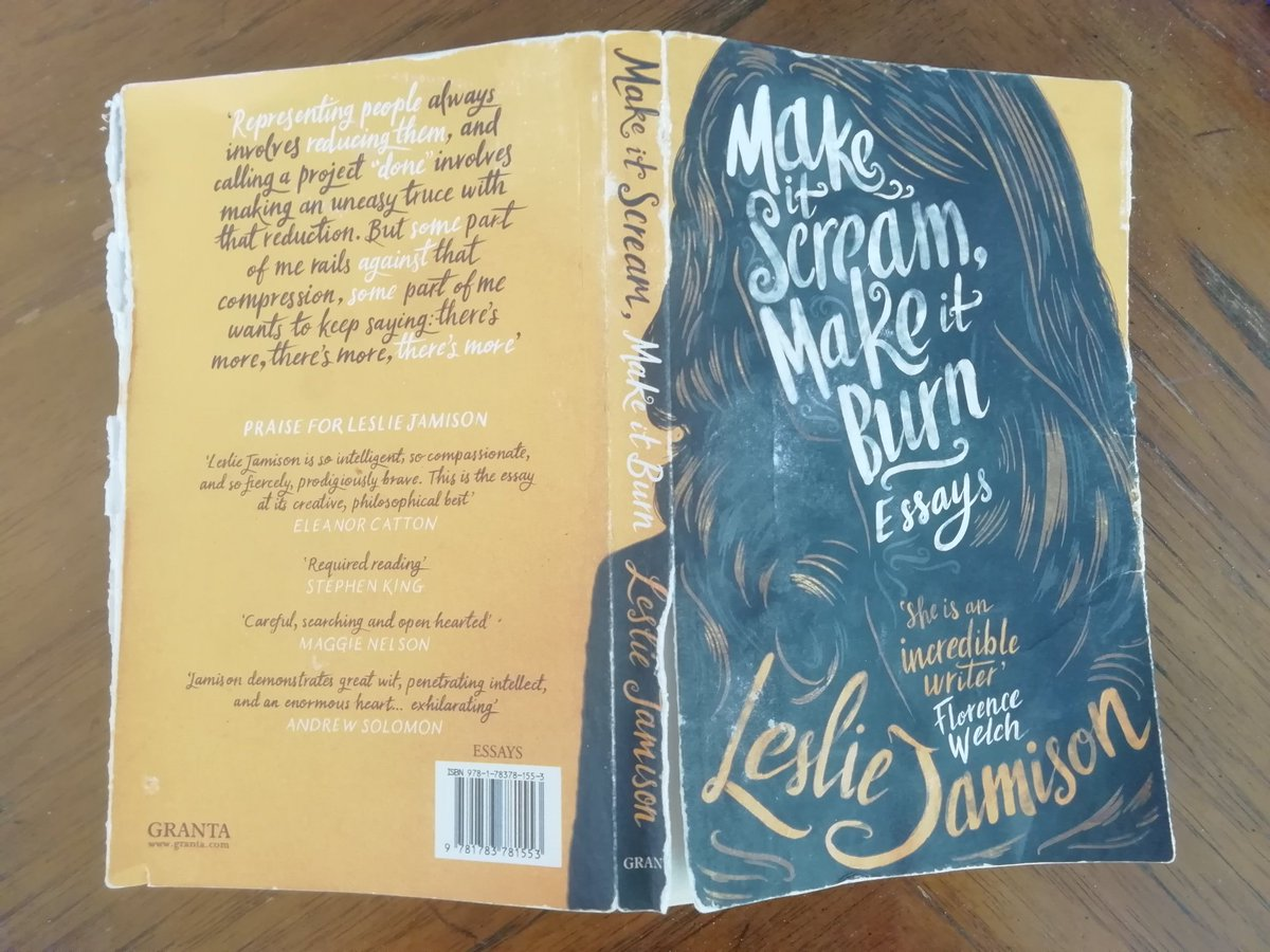 Re-reading our well-loved copy of #MakeItScreamMakeItBurn in advance of tonight's online event with Leslie Jamison and Sinéad Gleeson. Brand new copies available from @BantryBookshop and your #LocalBookshop. Event tickets