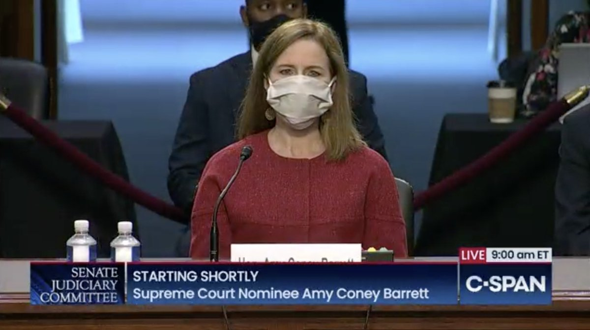 Today is day two of irresponsible, illegitimate Senate #SCOTUSHearings for Amy Coney Barrett, Donald Trumps Supreme Court nominee. REMINDER: Her MANY writings/statements over the years confirm her hostility to civil rights. She has NO PLACE on the Supreme Court. #BlockBarrett