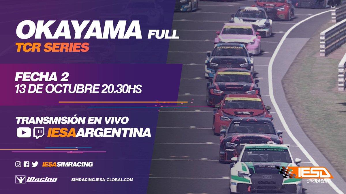 Otra nueva fecha del campeonato @IESASimRacing con Audi RS3 TCR en el circuito 🇯🇵 de Okayama.  Compartimos pista con mis compañeros de equipo: 🇦🇷 @JoaquinBiar  🇨🇺 @TheBigXander   @UnicosGaming ⚡  #SomosUnicos https://t.co/dI51e4qfYH