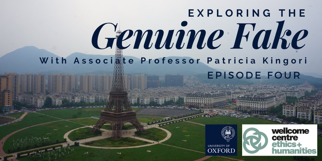 """Ep. 4 of 'Exploring the Genuine Fake' by Somerville SRF Patricia Kingori is out now. In today's episode, Design Scholar Rachel Jenkins reflects on how """"humans constantly make, break and remake"""" what is genuine and what is fake. (1/3)  Listen: https://t.co/mNVDlNzYl0  @WEH_Oxford https://t.co/zXUNDuzM6O"""