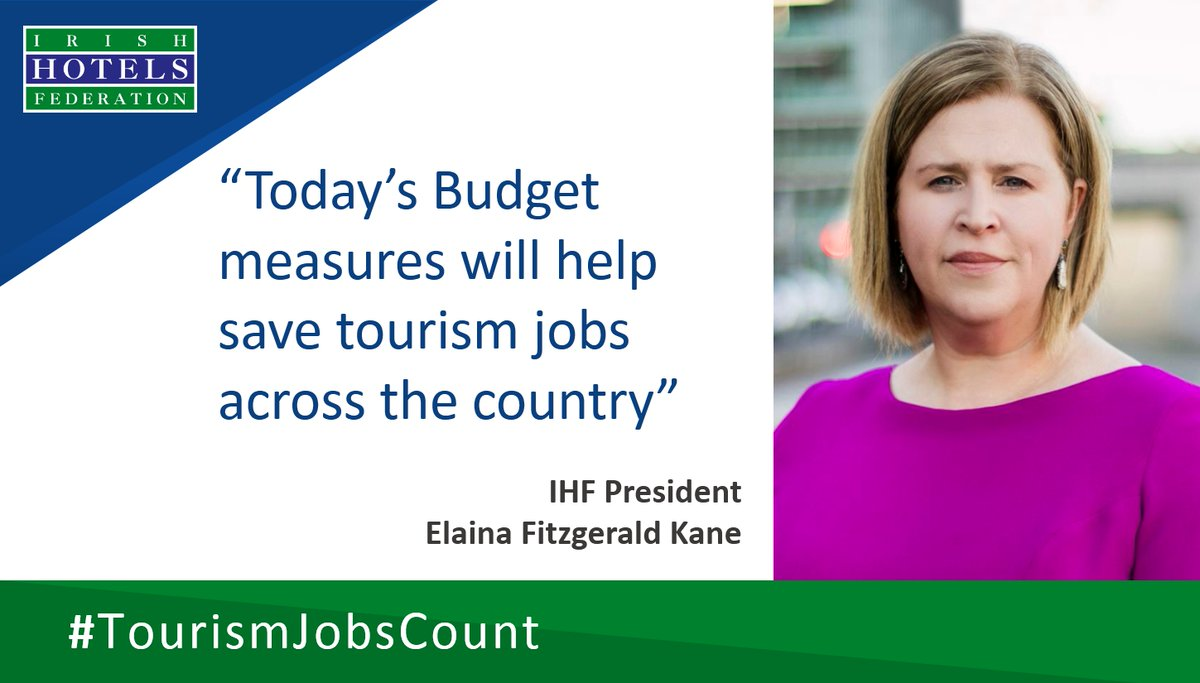 We welcome today's Budget and Govt's commitment to support tourism businesses and livelihoods throughout the country #TourismJobsCount @Paschald @mmcgrathtd @cathmartingreen @MichealMartinTD @LeoVaradkar @EamonRyan @ElainaFitzKane #Budget2021 https://t.co/ryWeE0PczV