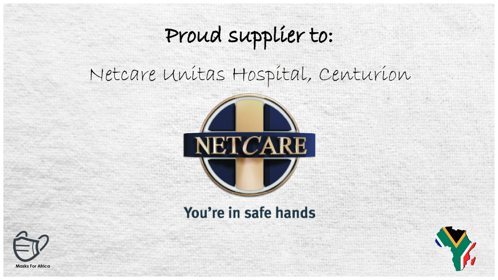 Proud PPE supplier to: Netcare Unitas Hospital, Centurion  Netcare Unitas Hospital, South Africa's largest private hospital.  #masksforafrica #Netcare #Unitas #unitashospital #WeCare #hospitals #panties #tangas #underwear #gowns #shoecovers #hairnets #PPE #ppesupplies #Centurion https://t.co/geYsCuPY7W