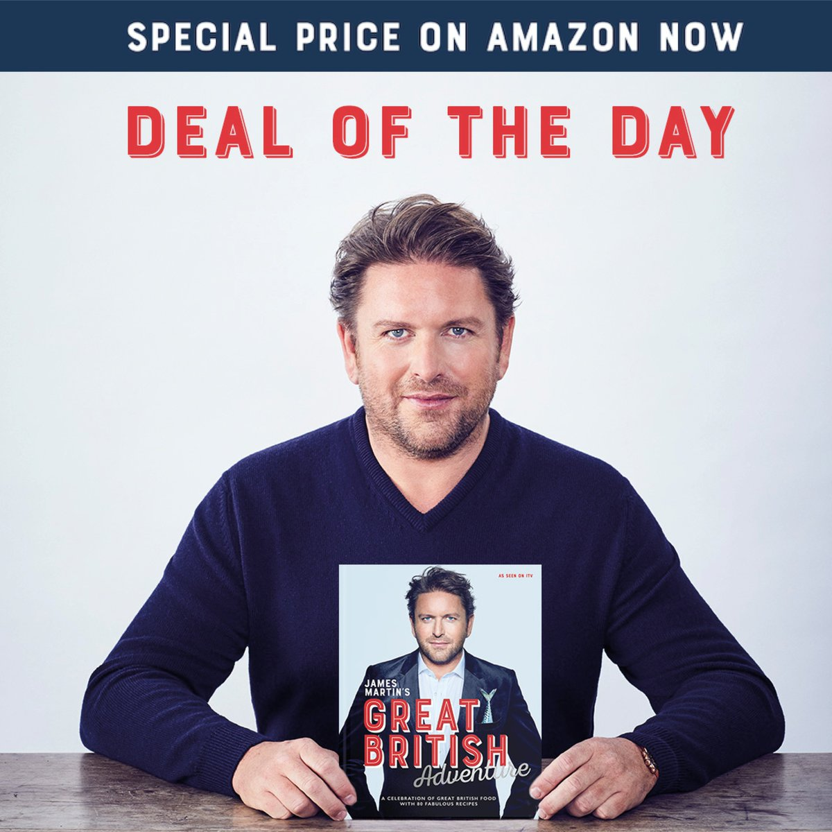 Another deal not to be missed @jamesmartinchef's Great British Adventure, 50% off for Amazon #PrimeDay   Order yours here: https://t.co/ibgEB5cH7Y https://t.co/3gij0468dy