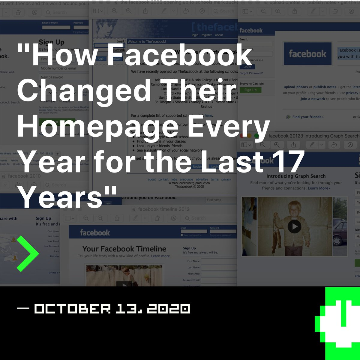🆕HACKER NOON TOP STORY >>How Facebook Changed Their Homepage Every Year for the Last 17 Years  #StoryOfTheDay #facebook #facebookdesign