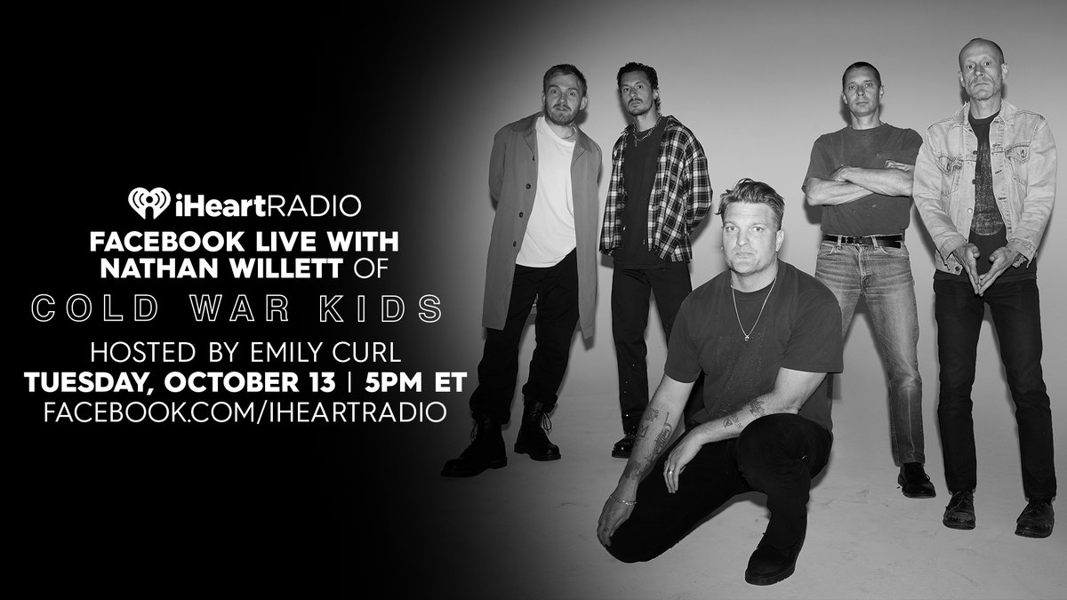Watch our exclusive interview with Nathan Willett of @ColdWarKids today at 5pm ET hosted by @EmilyCurl!   Set a reminder: https://t.co/SI0kKNxggZ https://t.co/AQbloacmO1