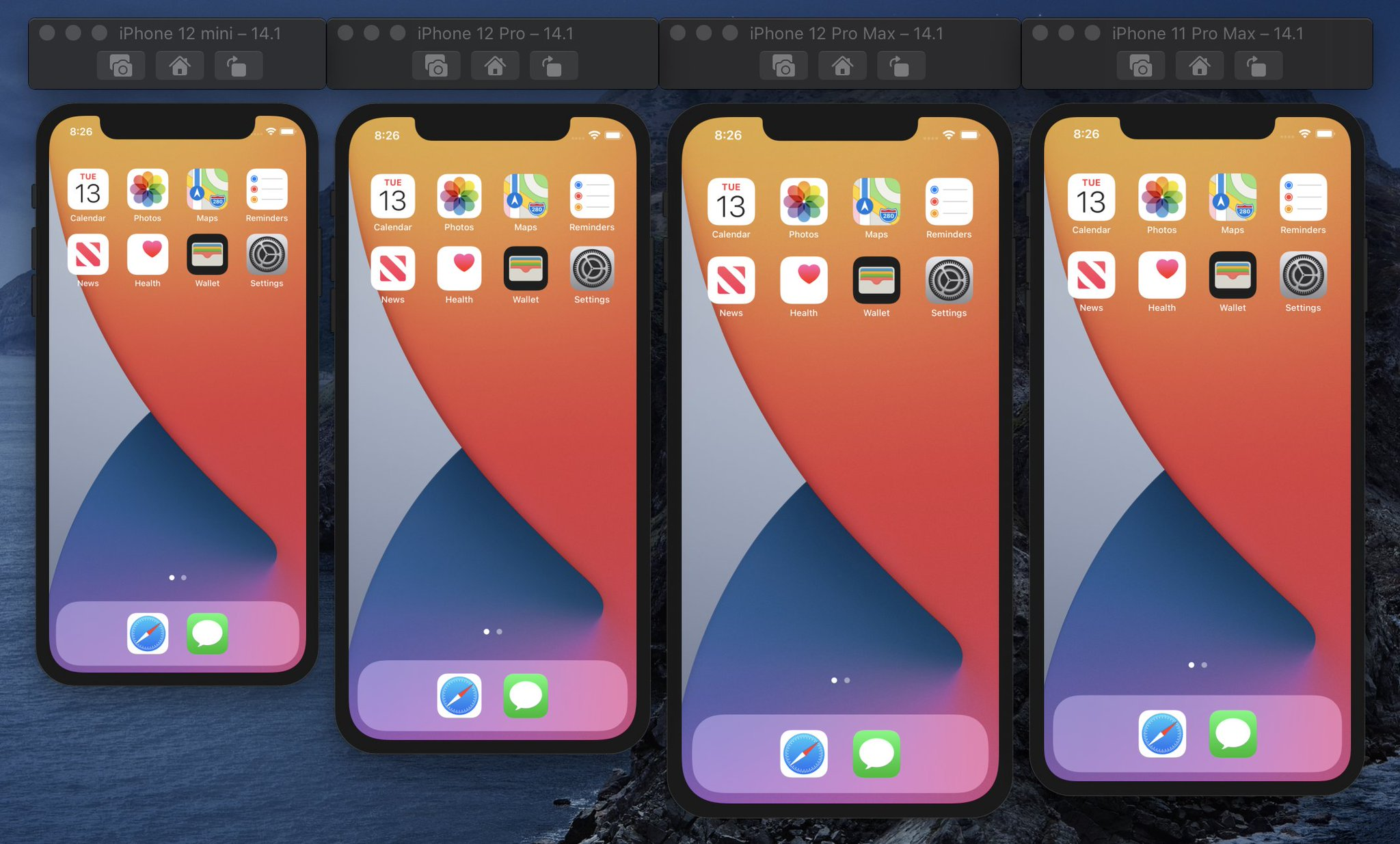 Paul Hudson On Twitter If You Run The Various Iphones In Simulator Using Physical Size Display You Can Get Some Idea Of How They Match Up Side By Side Nb That S An