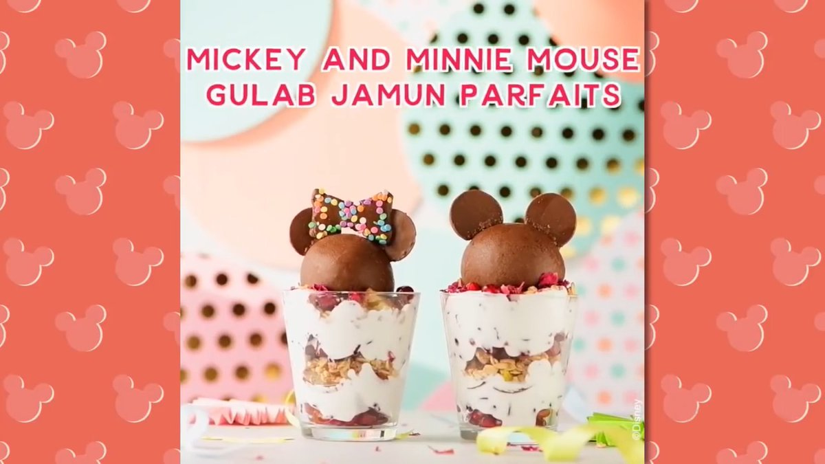 Love this Mickey Mouse inspired parfait recipe to Gulab Ja-moon and back! Its #DessertDay today! 🥰🥰👏👏